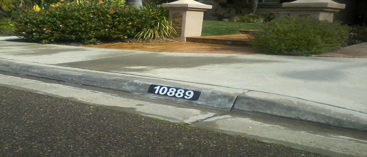 Curb Painting San Diego Reflective Sign 3 - Reflective Curb Address Product Information