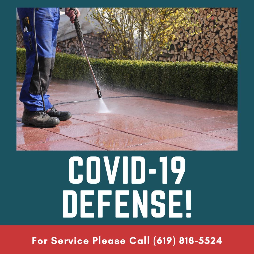 Covid 19 Defense - Home Exterior Pressure Washing (Covid-19 Defense) San Diego County Area